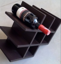 Diamond cube leather wine rack
