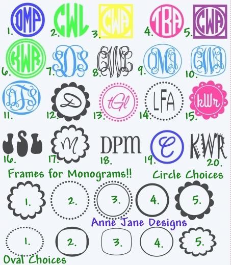 Monogram Car Sticker Interesting Split Letter Decal Split - Monogram decal for car