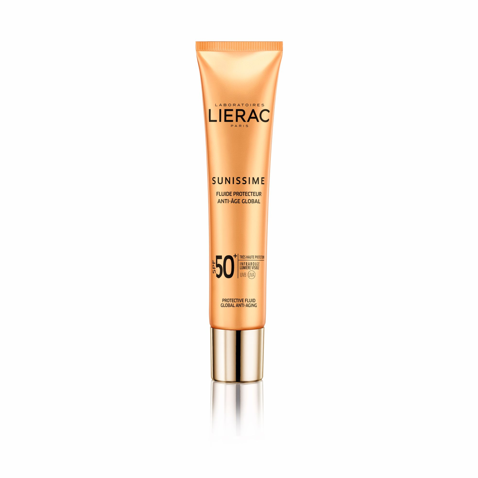 LIERAC - Sunissime Protective Fluid Global Anti-Aging SPF50+ Λεπτόρρευστη Αντηλιακή Κρέμα - 40ml