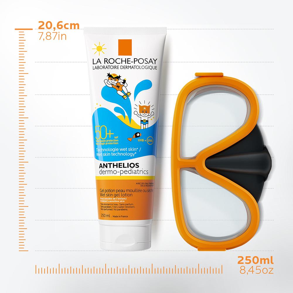 LA ROCHE POSAY - Anthelios Dermo-Pediatrics Wet Skin Gel Lotion Παιδικό Αντιηλιακό για Στεγνό ή Βρεγμένο Δέρμα SPF50+ - 250ml