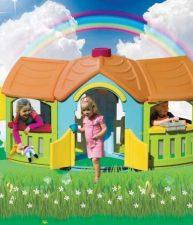 Dětský domeček Grand Villa s předsíní, kuchyňkou a pracovním pultem