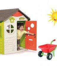 Set domeček pro děti Jura Lodge a kolečko s kbelík setem