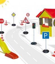 Set hraček domeček pro děti My House Smoby, skluzavka Toboggan XL a dopravní hřiště BIG
