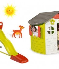 Domeček pro děti Jura Lodge a skluzavka Toboggan XL Smoby