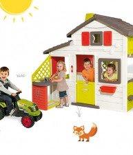 Set hraček dětský domeček Přátel a traktor Claas GM s přívěsem Smoby