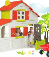Set domeček pro děti Maison Duplex a kolečko s doplňky