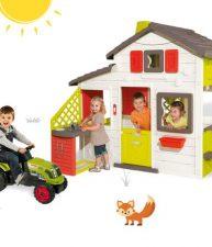 Set dětský domeček Přátel a traktor Claas GM