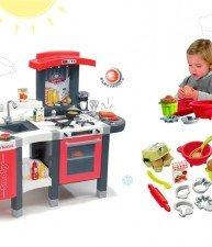 Set detská kuchynka Tefal Superchef s grilom a kuchynská súprava na varenie a pečenie