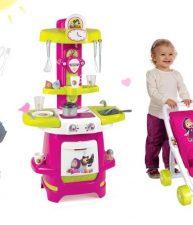 Set detská kuchynka Máša a medveď a kočík pre bábiku