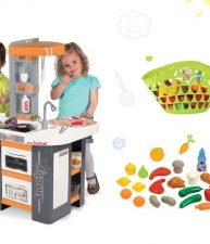 Set kuchynka Tefal Studio XL so zvukmi a nákupný košík s doplnkami