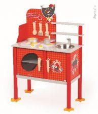 Drevená magnetická kuchynka Francúzsky Kohútik Maxi Cooker Janod