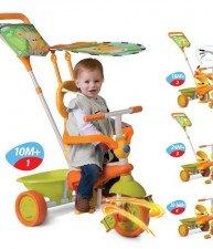 Tříkolka pro děti Safari Touch Steering