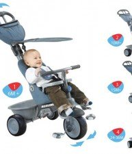Tříkolka pro děti Recliner 4v1 od 6 měsíců