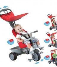 Dětská tříkolka Recliner 4v1 s polohovatelnou opěrkou