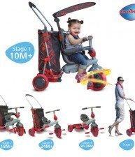 Tříkolka smarTrike&Go Touch Steering s nákupním vozíkem