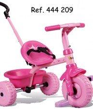 Růžová tříkolka pro děti Be Fun Smoby