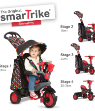 Tříkolka Boutique Red Touch Steering smarTrike