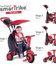 Tříkolka pro děti Spark Touch Steering Black&Red