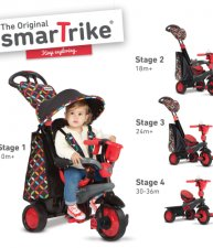 Trojkolka Boutique Red Touch Steering smarTrike