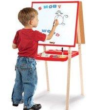 Drevená tabuľa na kreslenie Activity Smoby