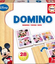 Drevené domino Mickey Mouse a priatelia 28 ks