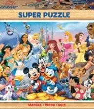 Drevené puzzle Disney Svet 100 dielov