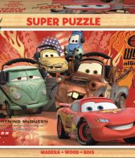 Drevené puzzle Autá 2 100 dielov
