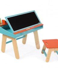 Drevená školská lavica so stoličkou Orange&Blue