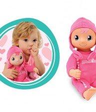 SMOBY ružová bábika Minikiss od 12 mesiacov