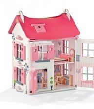 Janod drevený domček pre bábiky Mademoiselle Doll's House + 17 doplnkov