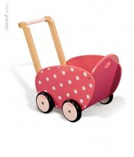 Drevený kočík pre bábiku Framboisine Doll's Pram Janod