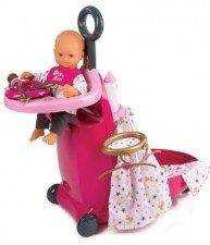 Prebaľovací vozík pre bábiku Baby Nurse Zlatá edícia Smoby s postieľkou