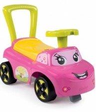 SMOBY růžové dětské odrážedlo a chodítko Auto Garcon