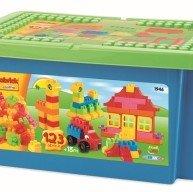 ÉCOIFFIER Abrick stavebnice pro děti s barevnými kostkami 123 kusů