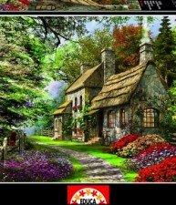 EDUCA puzzle 2000 dílů Carnation Cottage