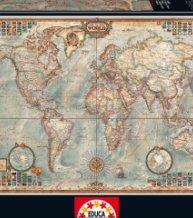 EDUCA puzzle 1500 dílů politická mapa světa 1500 dílků