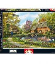 EDUCA puzzle Genuine Meadow Cottages 5000 ks