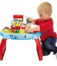 Écoiffier dětský didaktický stůl se stavebnicí Maxi Abrick 35 ks