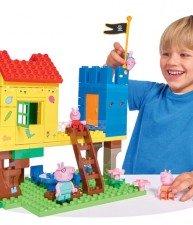 Big stavebnice PlayBIG Bloxx Peppa Pig v domku na stromě se 4 figurkami 94 dílů