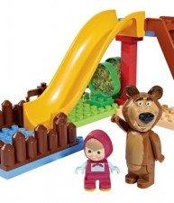 Big stavebnice Máša a medvěd na skluzavce s 2 figurkami
