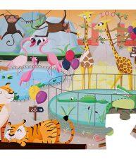 Puzzle Tactile Den v zoologické zahradě Janod 20 dílů