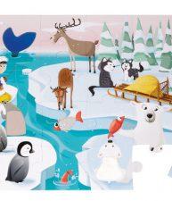 Puzzle Tactile Život na ledě Janod s texturou