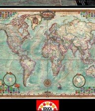 EDUCA puzzle 4000 dielov The World Executive Map