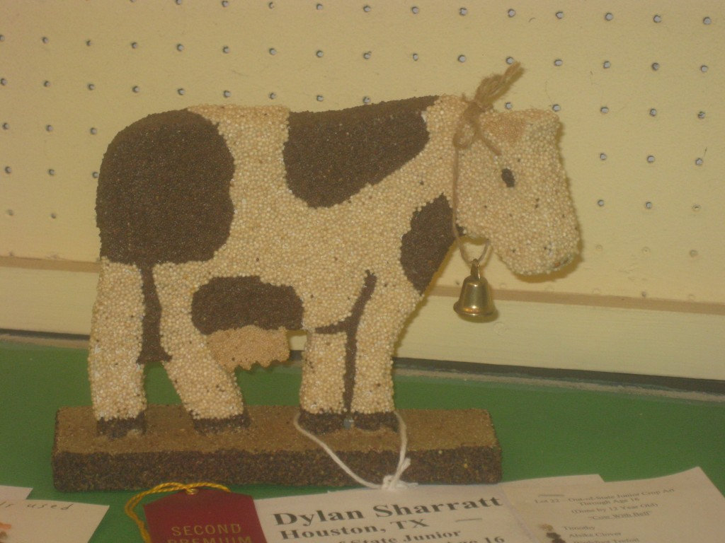 Cool cow crop art.