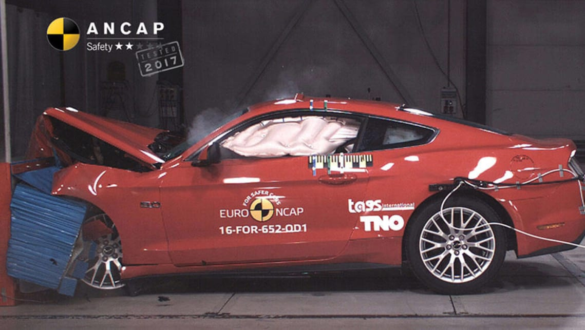 Ford Mustang's shock crash test result