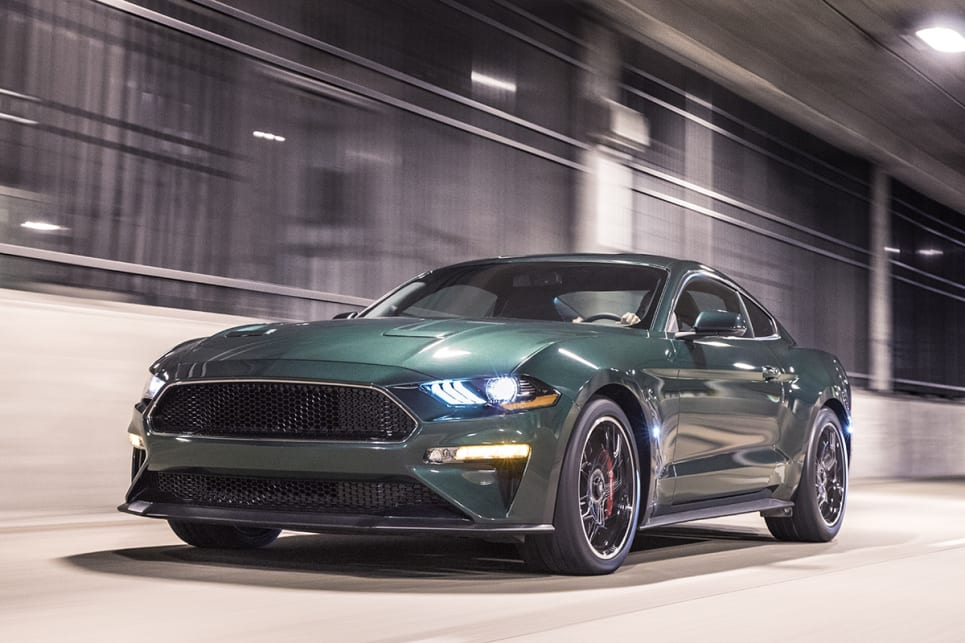 The 2019 Bullitt Mustang Display at NAIAS is Ford's Showstopper