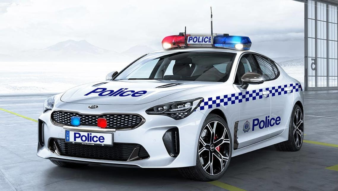 kia stinger gt on the cards for australian police car news carsguide. Black Bedroom Furniture Sets. Home Design Ideas