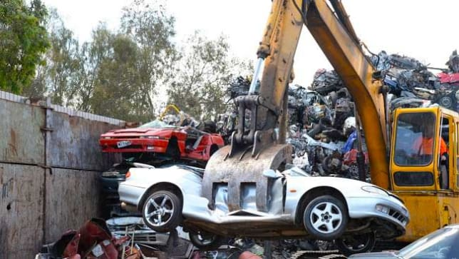 police resume crushing hoon cars