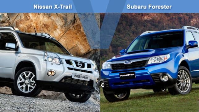 Nissan X Trail Vs Subaru Forester Review Carsguide