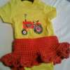 3-6 month orange baby skirt